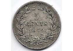 Nederland 1879 5 Cent...