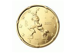 20 Cent Italië 2002 UNC