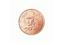 1 Cent Frankrijk 2002 UNC