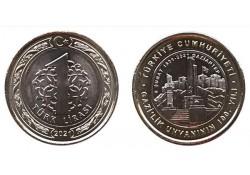 Turkije 2021 1 Lira '100...