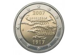 2 Euro Finland 2007  90 jaar onafhankelijkheid Unc