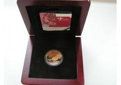 2004 10 Florijn Aruba Goud 25 jaar Koninkrijksstatuut.