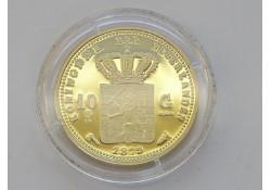 Replica 10 Gulden goud 1879. (Zilver)