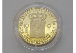 Replica 10 Gulden goud 1842. (Zilver)