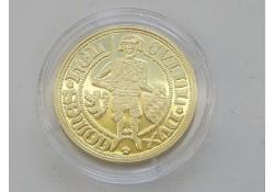 Replica gouden dukaat. (Zilver)