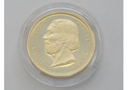 Replica gouden 10 gulden of Negotiepenning 1850. (Zilver)
