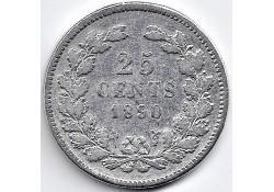 Nederland 1890 (b) 25 Cent...
