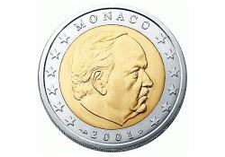 2001 2 Euro Monaco UNC.