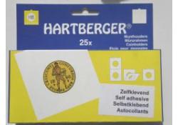 Zelfklevende Munthouders Hartberger, 48 Ø 25 st.