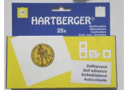 Zelfklevende Munthouders Hartberger, 43 Ø 25 st..