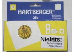 Munthouders Hartberger, nieters, 43 rond 25 st.