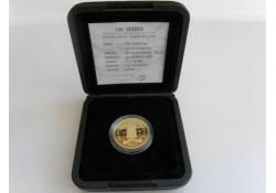100 Gulden 1999 Ned Antillen Goud Incl dsje & cert.
