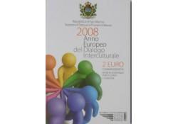 2 Euro San Marino 2008 Cultuur Dialoog Bu