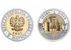 Polen 2021 5 Zlote Unc...