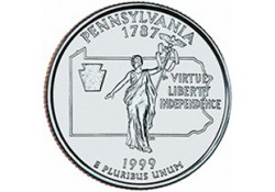 KM 294 U.S.A ¼ Dollar Pennsylvania 1999 P UNC