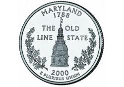 KM 306 U.S.A ¼ Dollar Maryland 2000 D UNC
