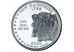 KM 308 U.S.A ¼ Dollar New Hampshire 2000 D UNC