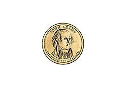 KM 402 U.S.A 2th President Dollar 2007 D John Adams
