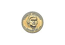 KM 403 U.S.A 3th President Dollar 2007 D Thomas Jefferson