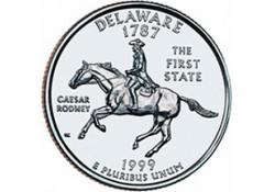 KM 293 U.S.A ¼ Dollar Delaware 1999 D UNC