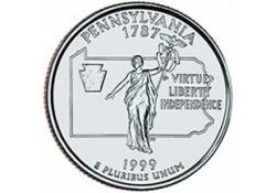 KM 294 U.S.A ¼ Dollar Pennsylvania 1999 D UNC