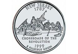 KM 295 U.S.A ¼ Dollar New Jersey 1999 D UNC