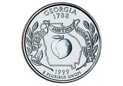KM 296 U.S.A ¼ Dollar Georgia 1999 P UNC