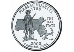 KM 305 U.S.A ¼ Dollar Massachusetts 2000 P UNC
