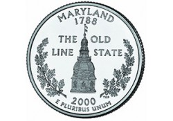 KM 306 U.S.A ¼ Dollar Maryland 2000 P UNC