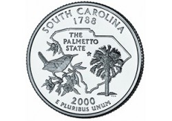 KM 307 U.S.A ¼ Dollar South Carolina 2000 D UNC