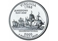 KM 309 U.S.A ¼ Dollar Virginia 2000 D UNC