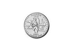 KM 343 U.S.A ¼ Dollar Illinois 2003 P UNC