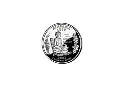 KM 344 U.S.A ¼ Dollar Alabama 2003 P UNC