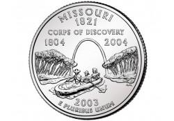KM 346 U.S.A ¼ Dollar Missouri 2003 P UNC