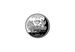 KM 347 U.S.A ¼ Dollar Arkansas 2003 D UNC
