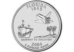 KM 356 U.S.A ¼ Dollar Florida 2004 P UNC