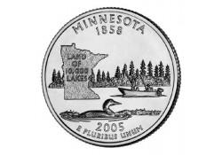 KM 371 U.S.A ¼ Dollar Minnesota 2005 D UNC