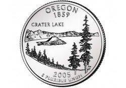 KM 372 U.S.A ¼ Dollar Oregon 2005 P UNC