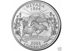 KM 382 U.S.A ¼ Dollar Nevada 2006 D UNC