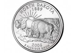 KM 385 U.S.A ¼ Dollar North Dakota 2006 P UNC