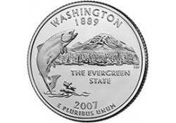 KM 397 U.S.A ¼ Dollar Waschington 2007 P UNC