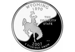KM 399 U.S.A ¼ Dollar Wyoming 2007 P UNC
