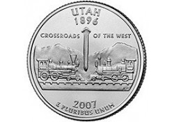 KM 400 U.S.A ¼ Dollar Utah 2007 D UNC