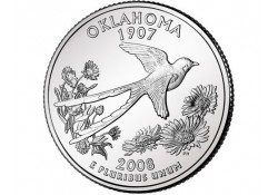 KM 421 U.S.A ¼ Dollar Oklahoma 2008 D UNC
