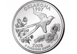 KM 421 U.S.A ¼ Dollar Oklahoma 2008 P UNC