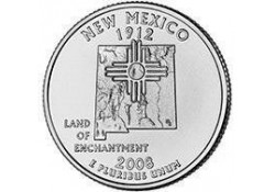 KM 422 U.S.A ¼ Dollar New Mexico 2008 D UNC