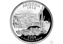 KM 423 U.S.A ¼ Dollar Arizona 2008 P UNC