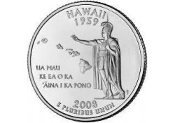 KM 425 U.S.A ¼ Dollar Hawaii 2008 P UNC