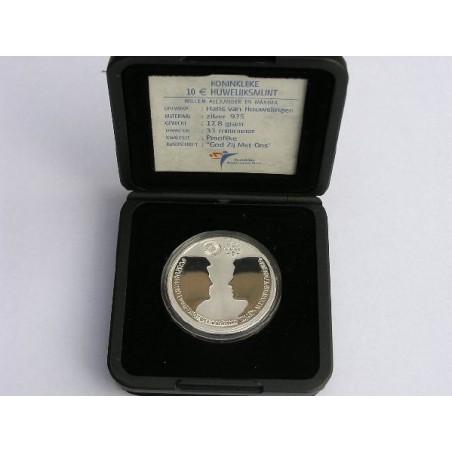 Nederland 2002 10 euro Huwelijksmunt Zilver Prooflike