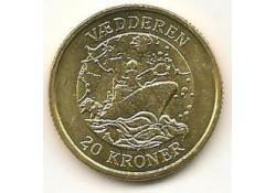 KM 921 Denemarken 20 Kroner 2007 Unc VÆdderen